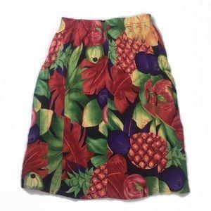 Fruit print Skirt summer peach yummy bottoms